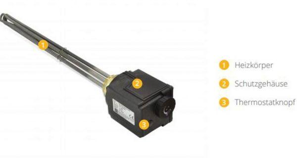 """SmartFox Einbauheizung 6/4"""" 6 kW 400 V"""